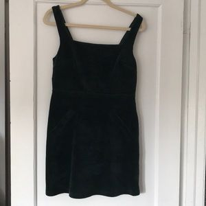 Dark green corduroy mini dress. Never worn